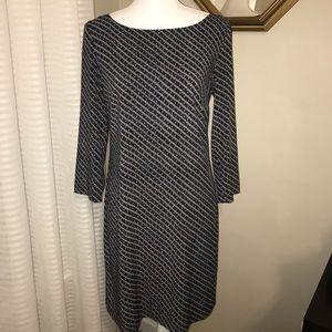 A X ARMANI EXCHANGE, BLUE, BLACK&GRAY DRESS, SZ 4